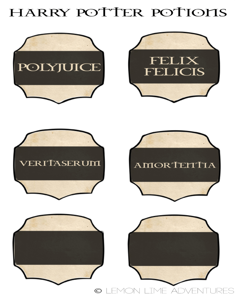 Diy Harry Potter Potions Ornaments Pertaining To Harry Potter Potion Labels Templates