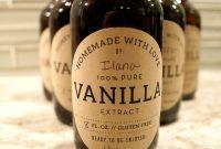 Diy  Homemade Vanilla Extract Recipe  Stylish Spoon with Homemade Vanilla Extract Label Template