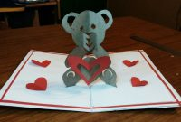 Diy  How To Make A Teddy Bear Popup Card Paper Craftshandmade within Teddy Bear Pop Up Card Template Free