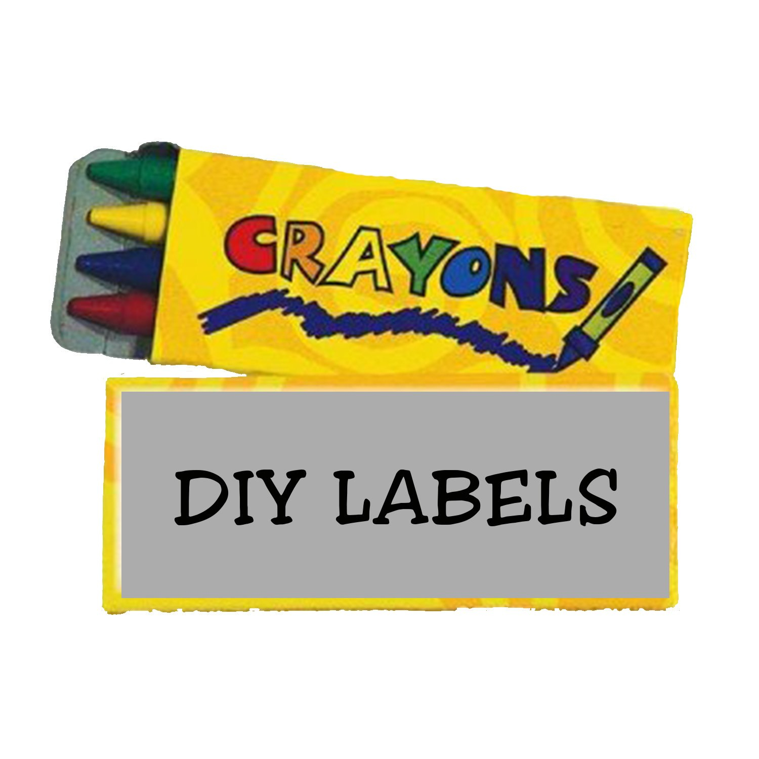 Diy  Pack Crayon Box Label Template  Etsy Within Crayon Labels Template