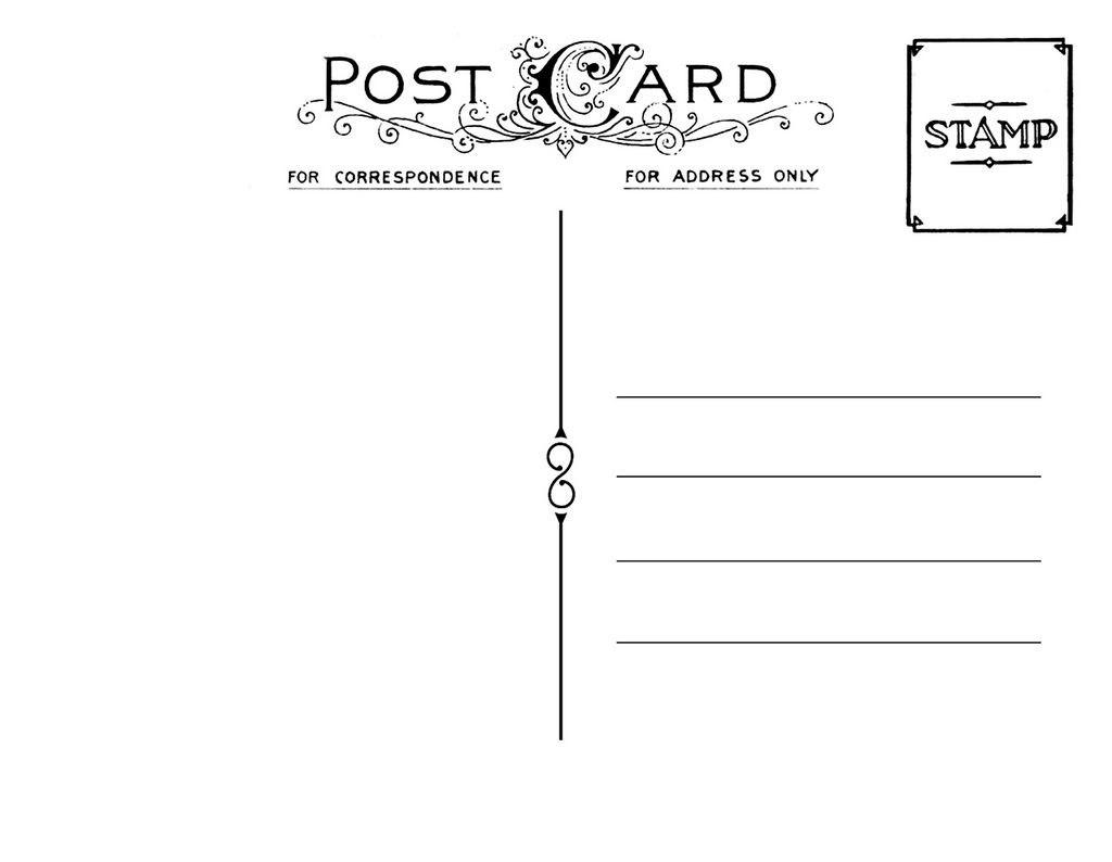 Diy Postcard Save The Date Back  Wedding Stationary  Diy Postcard Regarding Post Cards Template