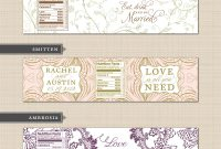 Diy Printable Custom Wedding Water Bottle Label Design Template with Free Custom Water Bottle Labels Template