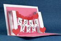 Diy Valentine Card  Handmade I Love You Pop Up Card  Youtube with regard to I Love You Pop Up Card Template