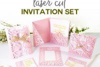 "Diy Wedding Invitation Templates  Free ""laser Cut"" Set  Jennifer Maker for Free Svg Card Templates"