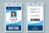 Doctor Id Badge Medical Identity Card Design Template — Stock intended for Doctor Id Card Template