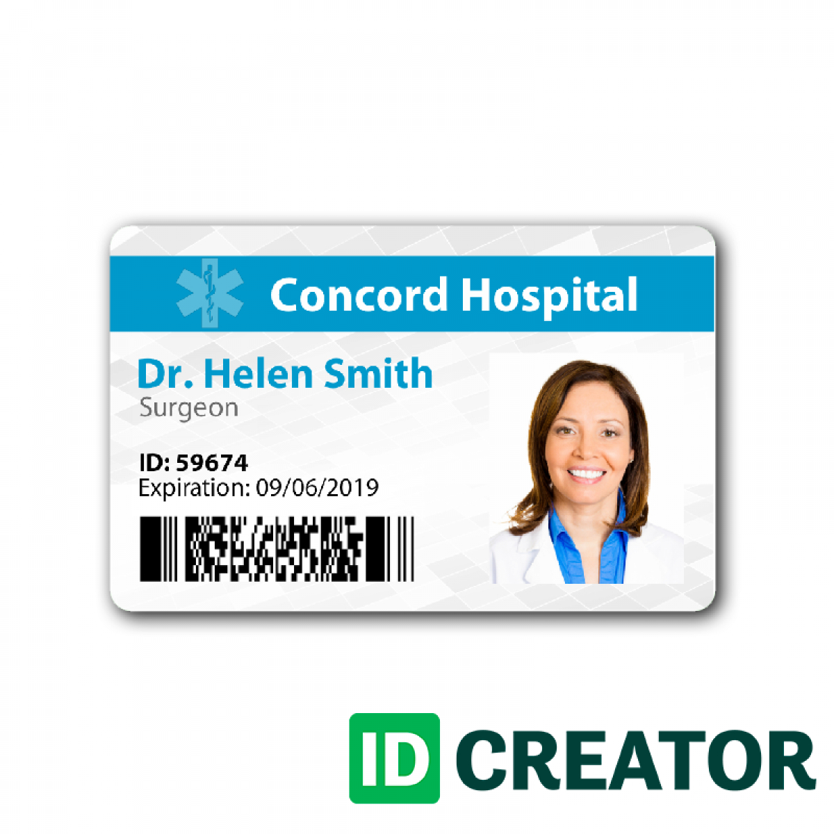 Doctor Id Badge Same Day Shipping From Idcreator  Pictureicon Within Doctor Id Card Template