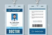 Doctor Id Card Medical Identity Badge Design Template Royalty Free within Doctor Id Card Template