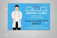 Doctor Id Card Stock Vector Illustration Of Care Dental with regard to Doctor Id Card Template