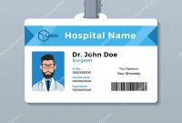 Doctor Id Card Template Medical Identity Badge — Stock Vector inside Doctor Id Card Template