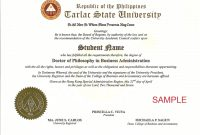 Doctorate Degree Certificate Template  Bizoptimizer with Doctorate Certificate Template