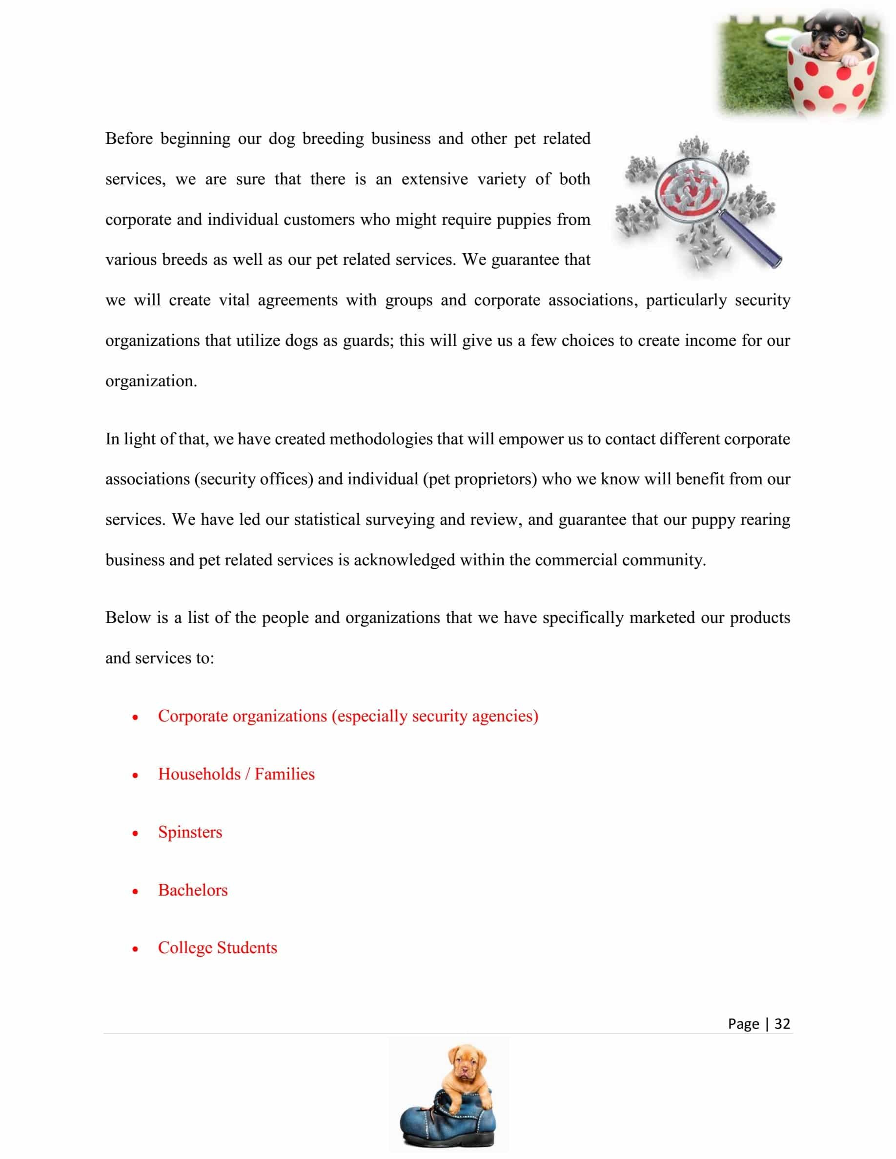 Dog Breeding Business Plan Template Sample Pages  Black Box Pertaining To Dog Breeding Business Plan Template