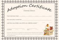 Doll Adoption Certificate Design Template In Psd Word throughout Pet Adoption Certificate Template