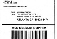 Domestic Mail Manual S Signature Confirmation in Usps Shipping Label Template
