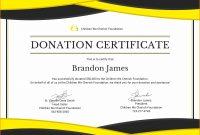 Donation Certificate Template  Instinctual Intelligence inside Donation Certificate Template