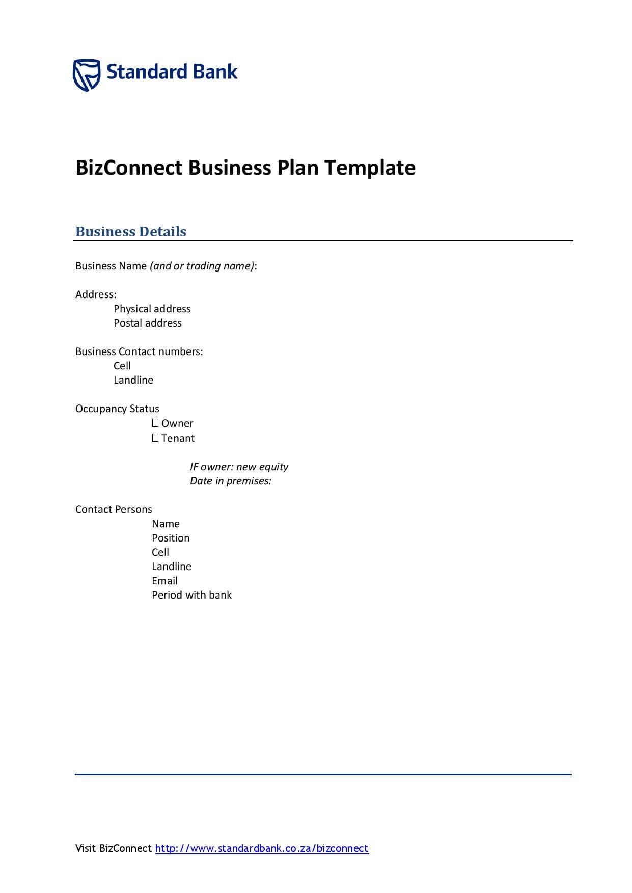 Download A Free Business Plan Template  Formfactory Throughout Business Paln Template