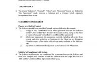 Download Fee Agreement Style  Template For Free At Templates Hunter in Conditional Fee Agreement Template