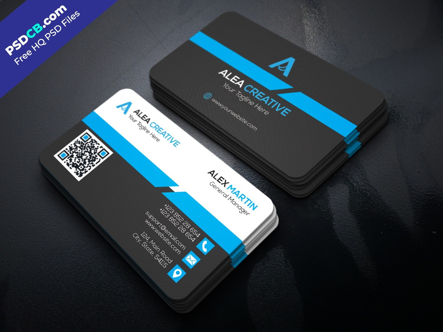 Download Free Modern Business Card Design Psd Template  Psdcb Pertaining To Modern Business Card Design Templates