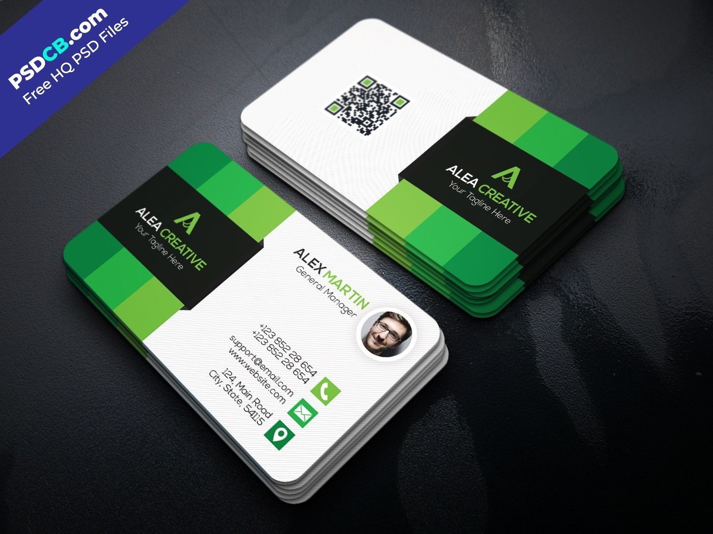 Download Free Modern Business Card Template Psd Set  Psdcb Regarding Visiting Card Templates Psd Free Download