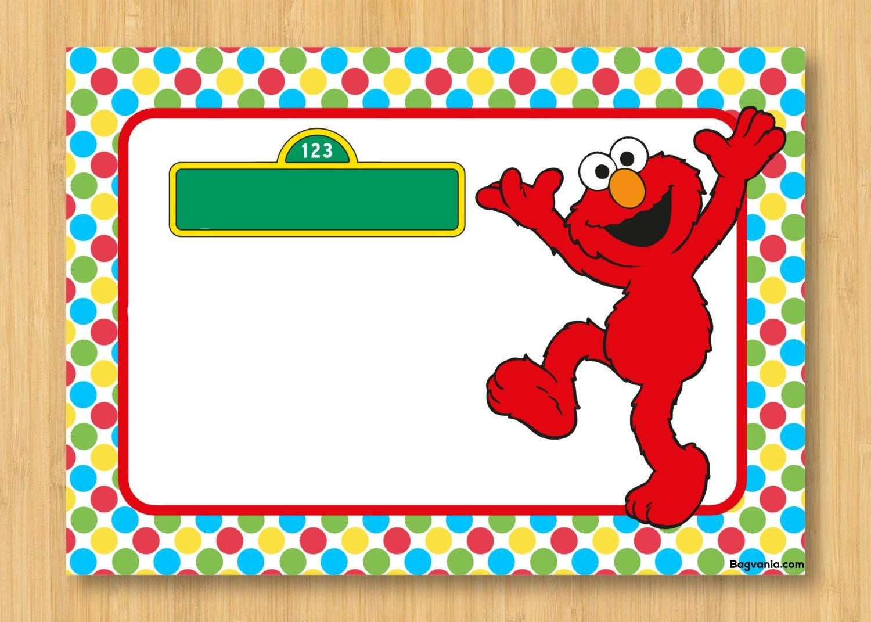 Download Free Printable Elmo Birthday Invitations  Bagvania Inside Elmo Birthday Card Template