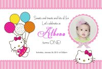 Download Free Template Hello Kitty Printable Birthday Invitations intended for Hello Kitty Birthday Card Template Free