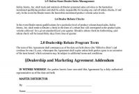 Download Marketing Agreement Style  Template For Free At Templates in Volume Rebate Agreement Template