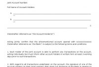 Download Master Account Agreement Oc App Rv  Docsharetips intended for Joint Account Agreement Template