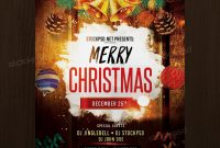 Download Merry Christmas – Free Psd Flyer Template  Free Psd Flyers in Christmas Brochure Templates Free