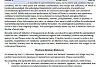 Download Personal Guarantee Agreement Forms  Leases  Loan  Pdf inside Commercial Lease Agreement Template Word