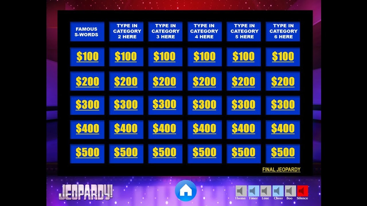 Download The Best Free Jeopardy Powerpoint Template  How To Make Regarding Jeopardy Powerpoint Template With Sound