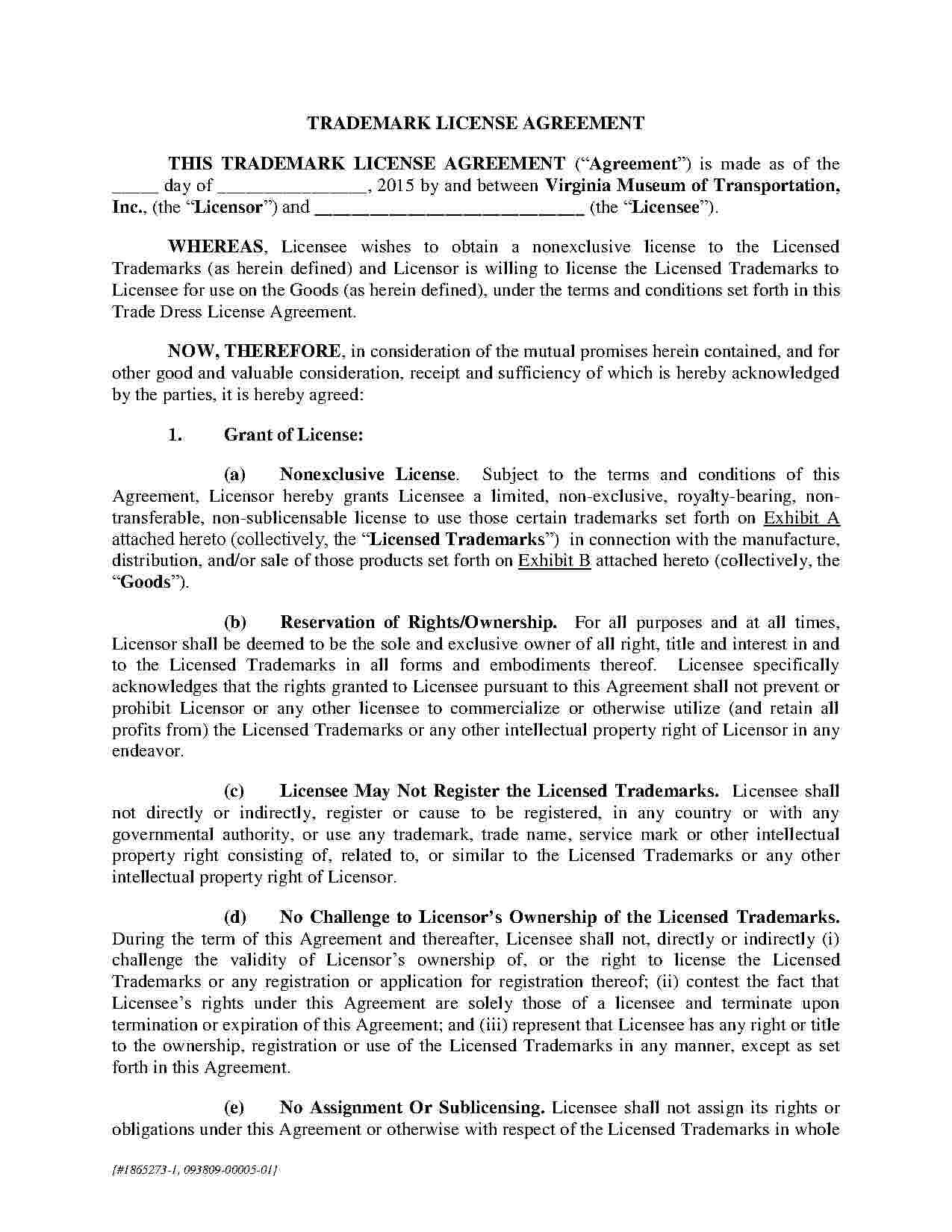 Download Trademark Assignment Agreement Style  Template For Free In Intellectual Property Assignment Agreement Template