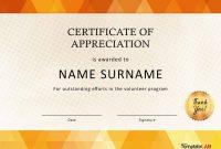 Download Volunteer Certificate Of Appreciation   Misical regarding Volunteer Certificate Template
