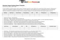 Downloadable Business Impact Analysis Template pertaining to It Business Impact Analysis Template