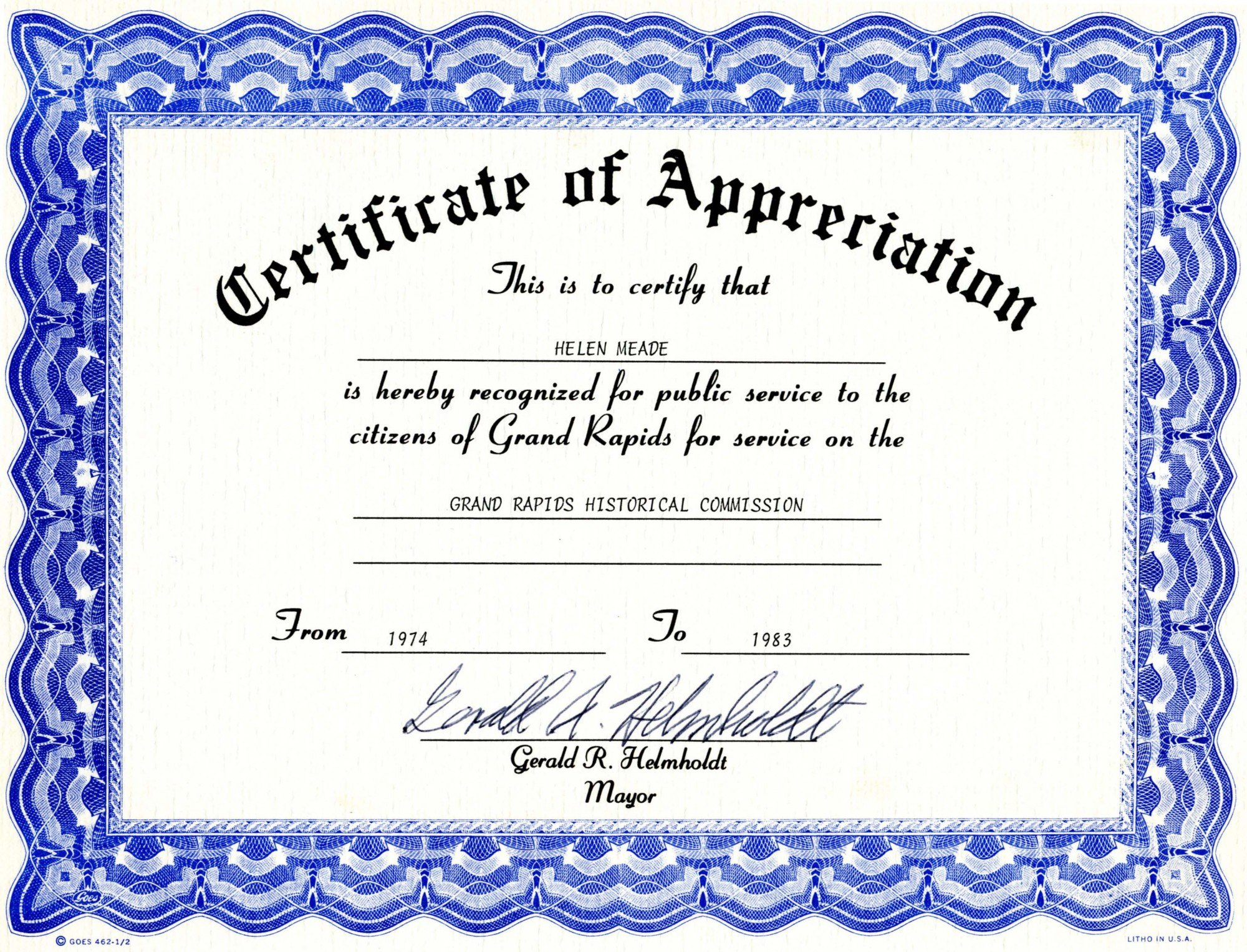 Downloadfree Certificate Of Recognitiontemplates Pertaining To Recognition Of Service Certificate Template