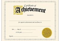 Downloadpdfachievementcertificatestemplatesfreecertificateof with Certificate Of Accomplishment Template Free
