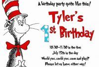 Dr Seuss Birthday Invitations Printable  Invitations Templates intended for Dr Seuss Birthday Card Template