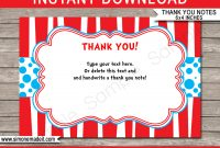 Dr Seuss Party Thank You Cards Template with Dr Seuss Birthday Card Template