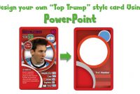 Draw A Top Trump Card Using Powerpoint  Youtube in Top Trump Card Template
