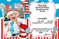 Drseuss St Birthday Invitation Template  Party Ideas  St for Dr Seuss Birthday Card Template