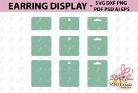 Earring Cards Svg Earring Display Svg Earring Display Pdf within Free Svg Card Templates
