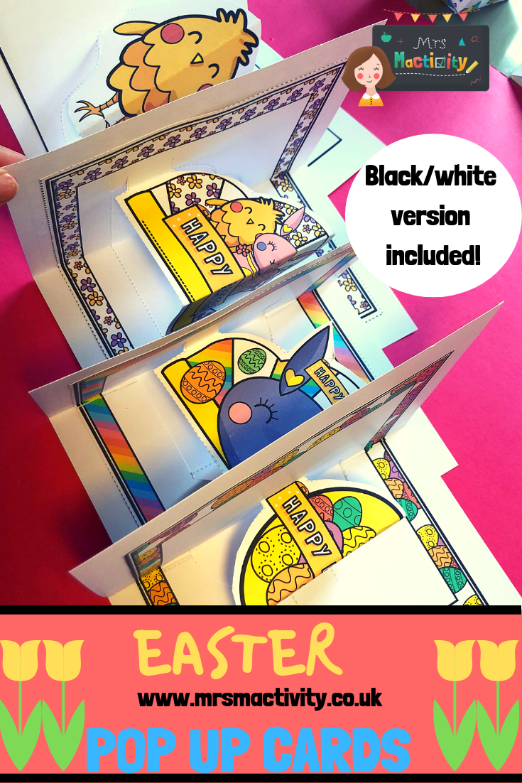 Easter Pop Up Cards In   Easter Resources  Pop Up Cards In Easter Card Template Ks2
