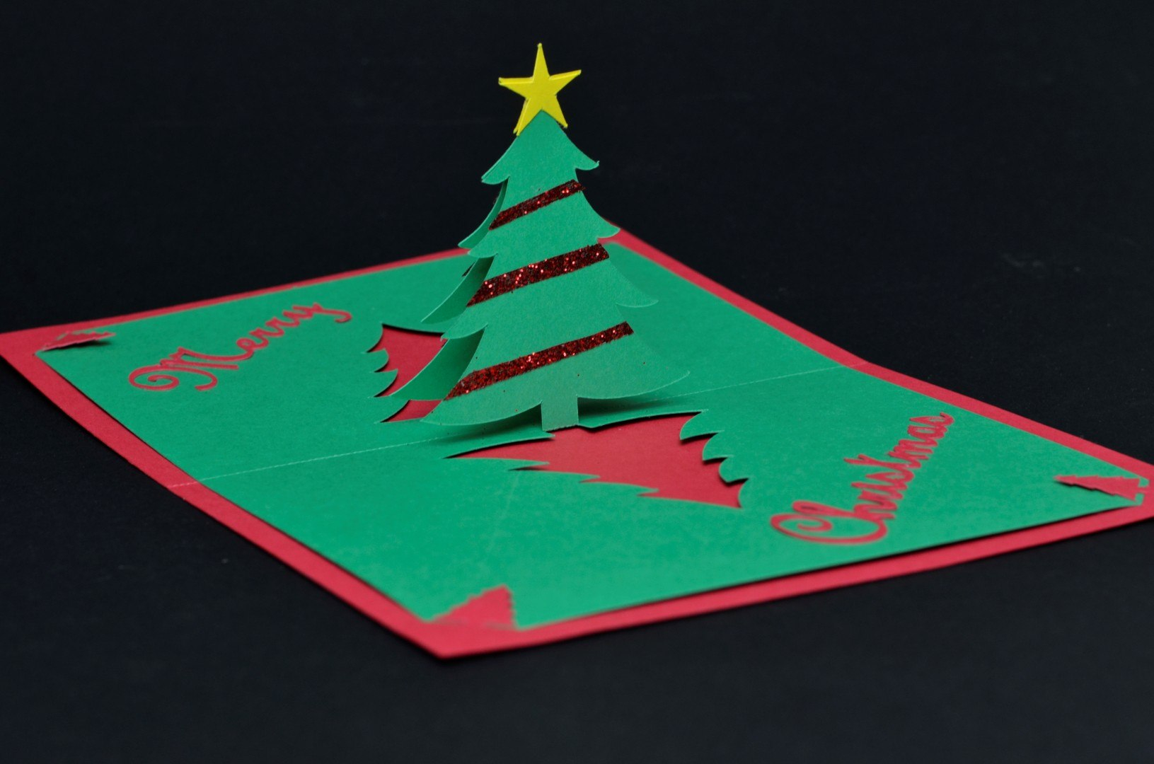 Easy Christmas Tree Pop Up Card Template  Creative Pop Up Cards In Pop Up Tree Card Template