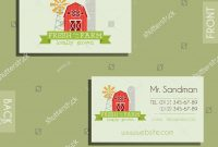 Eco Organic Visiting Card Template Natural Stock Vector Royalty within Bio Card Template