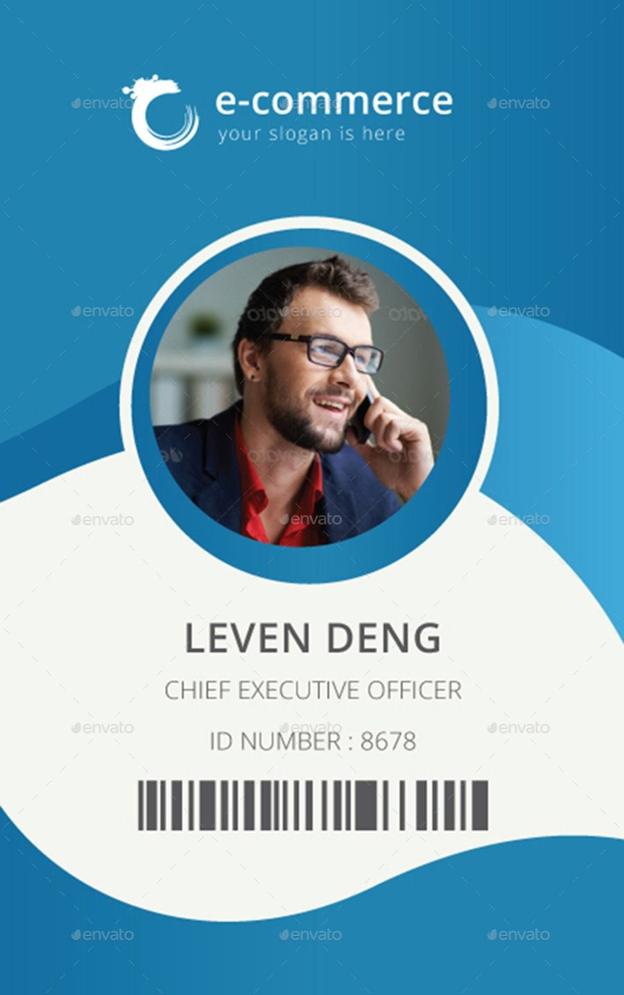 Ecommerce Business Office Id Card  Random  Id Card Template Intended For Faculty Id Card Template
