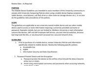 Edinboro University Of Pennsylvania Mobile Device Guidelines regarding Mobile Device Acceptable Use Policy Template