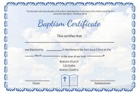 Editable Baptism Certificate Template In Adobe Photoshop Microsoft Word intended for Baptism Certificate Template Word