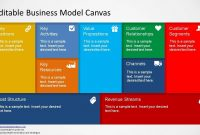 Editable Business Model Canvas Powerpoint Template  Slidemodel with Canvas Business Model Template Ppt