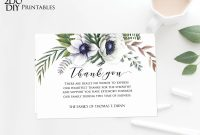 Editable Funeral Thank You Card  Memorial Editable Template intended for Sympathy Card Template