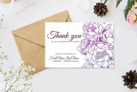 Editable Funeral Thank You Cards Personalized Sympathy Thank  Etsy in Sympathy Thank You Card Template