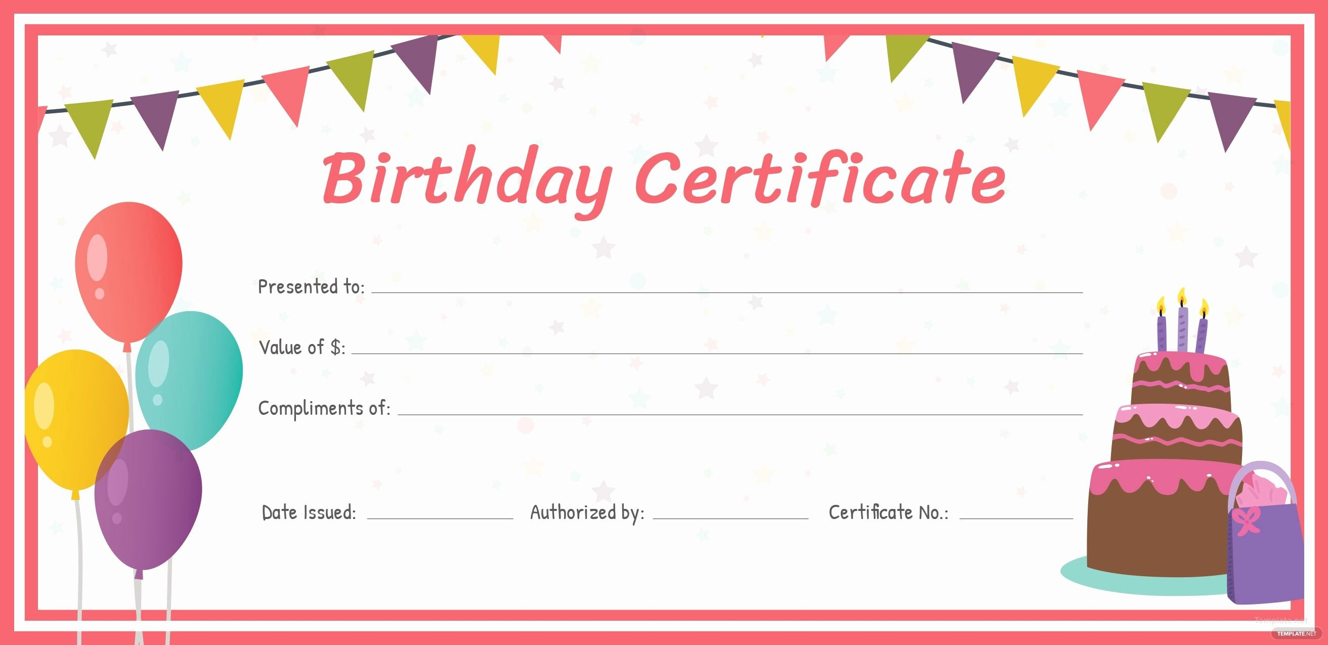 Editable Gift Certificate Template Luxury Free Birthday Gift Inside Fillable Gift Certificate Template Free