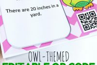 Editable Owl Qr Code Task Cards Template Freebie  Flapjack within Task Cards Template